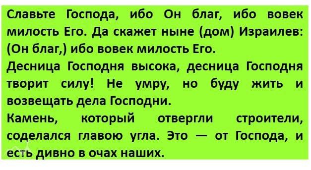 Пс 118, 1–2. 16–17. 22–23