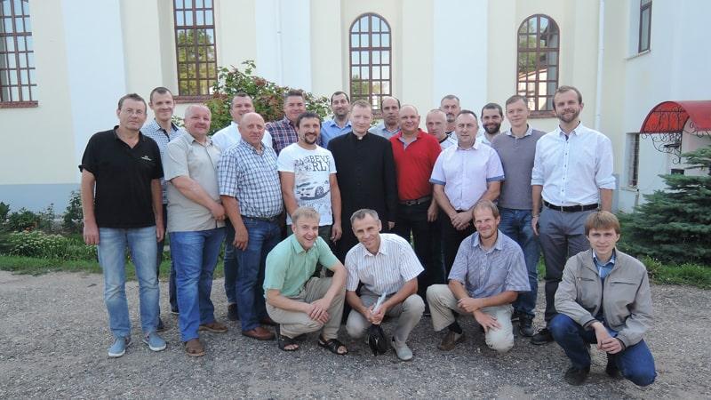 Община «Мужчины Святого Иосифа» на реколлекциях в Новогрудке август 2019