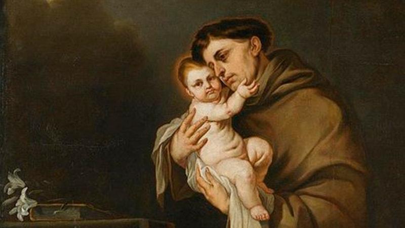 Святой Антоний Падуанский с Младенцем Иисусом (Христом), Джакомо Фарелли, икона