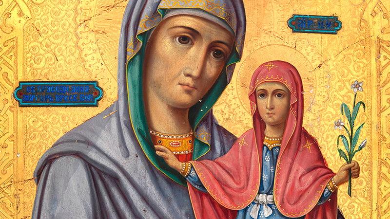 Икона Святая Анна с Мадонной фото