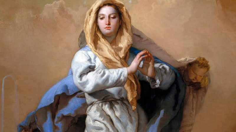 Икона Непорочного зачатия Пресвятой Девы Марии итальянского художника Джованни Баттиста Тьеполо