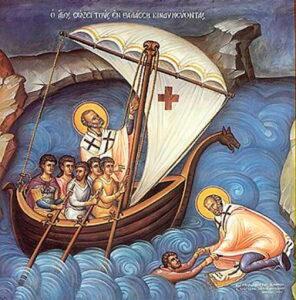 Икона святого Николая, покровителя моряков и рыбаков