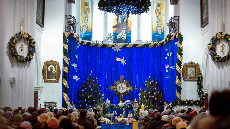 Расписание служб в костелах Минска на Рождество Христово