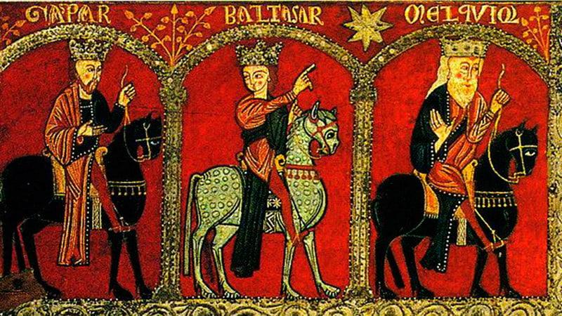 Праздник Три Короля (Богоявление), икона поклонение волхвов