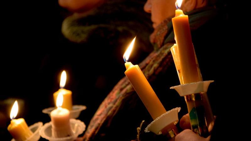 Освящение свечей на Сретение Господне фото