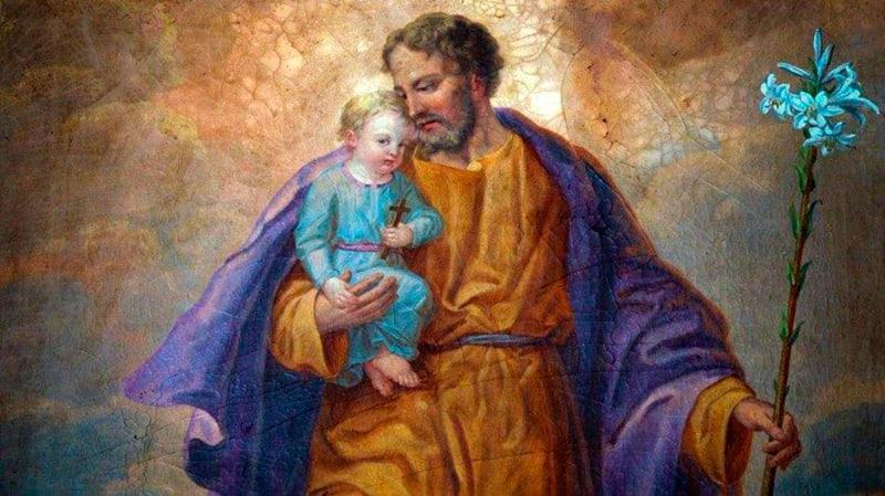 Святой Иосиф с Младенцем Иисусом икона