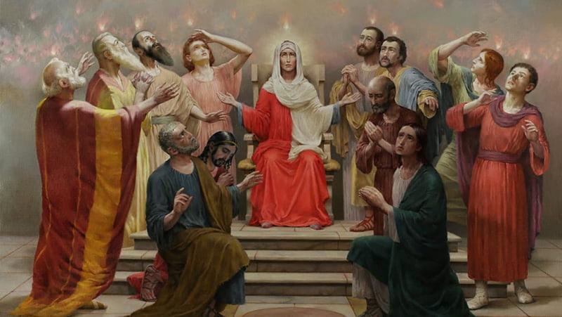 Сошествие Святого Духа (Пятидесятница) икона