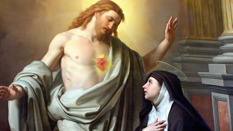 Откровения святой Маргарите Марии Алакок икона