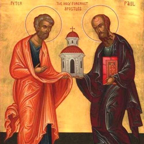 Святые Петр и Павел апостолы икона