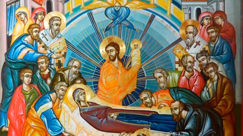Икона Успение Пресвятой Богородицы фото