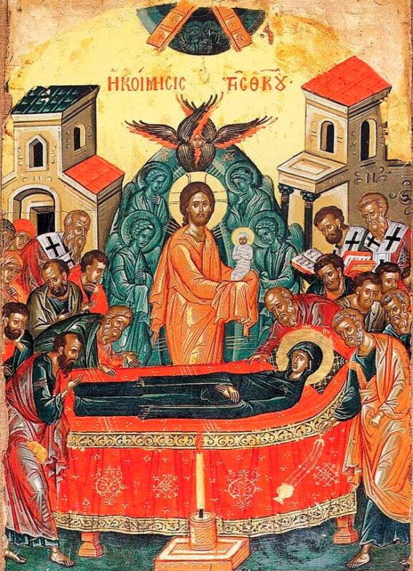Икона Успения Божьей Матери фото